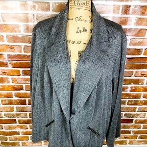 Avenue Tweed Blazer Jacket Plus Size 30/32 Gray